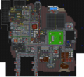 Map of the first floor of the space station.